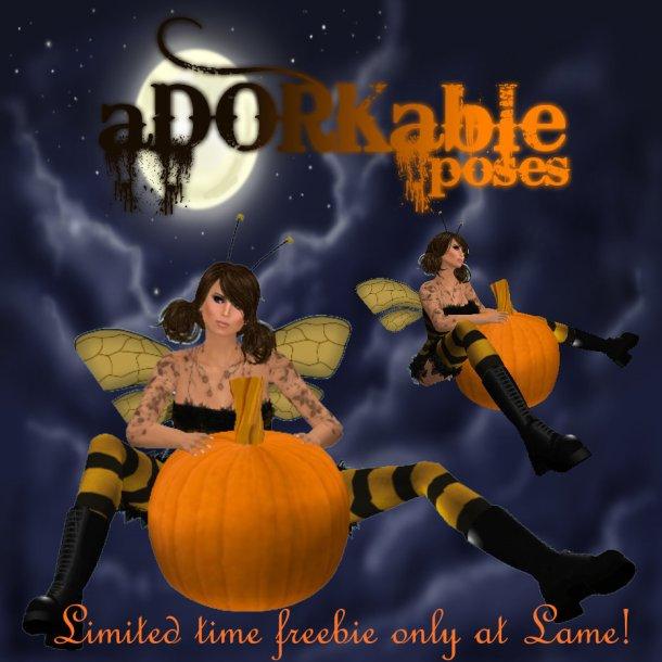aDORKablePoses Pumpkin Sit